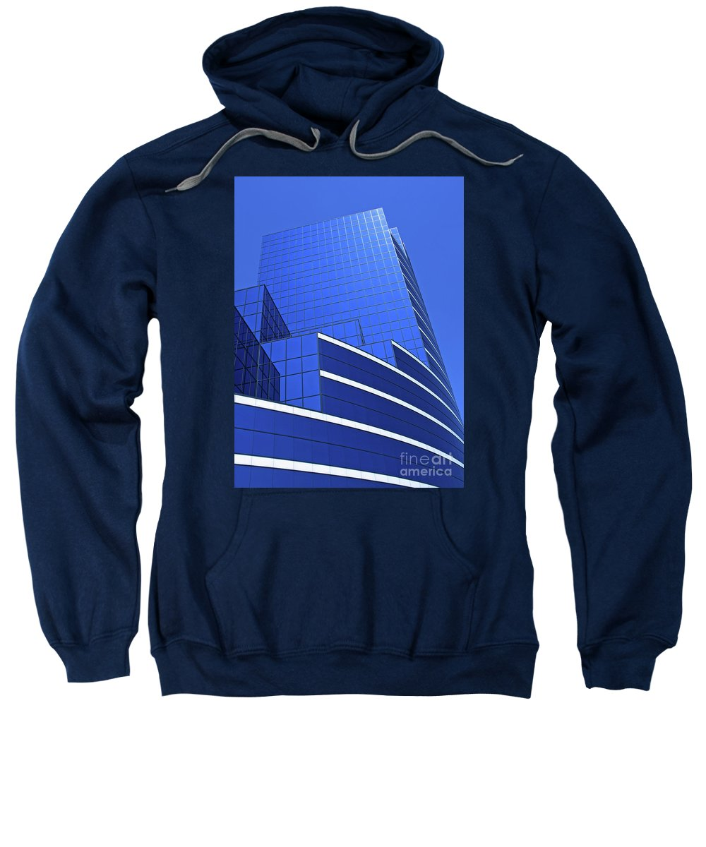 Architecture Sweatshirt featuring the photograph Architectural Blues by Ann Horn