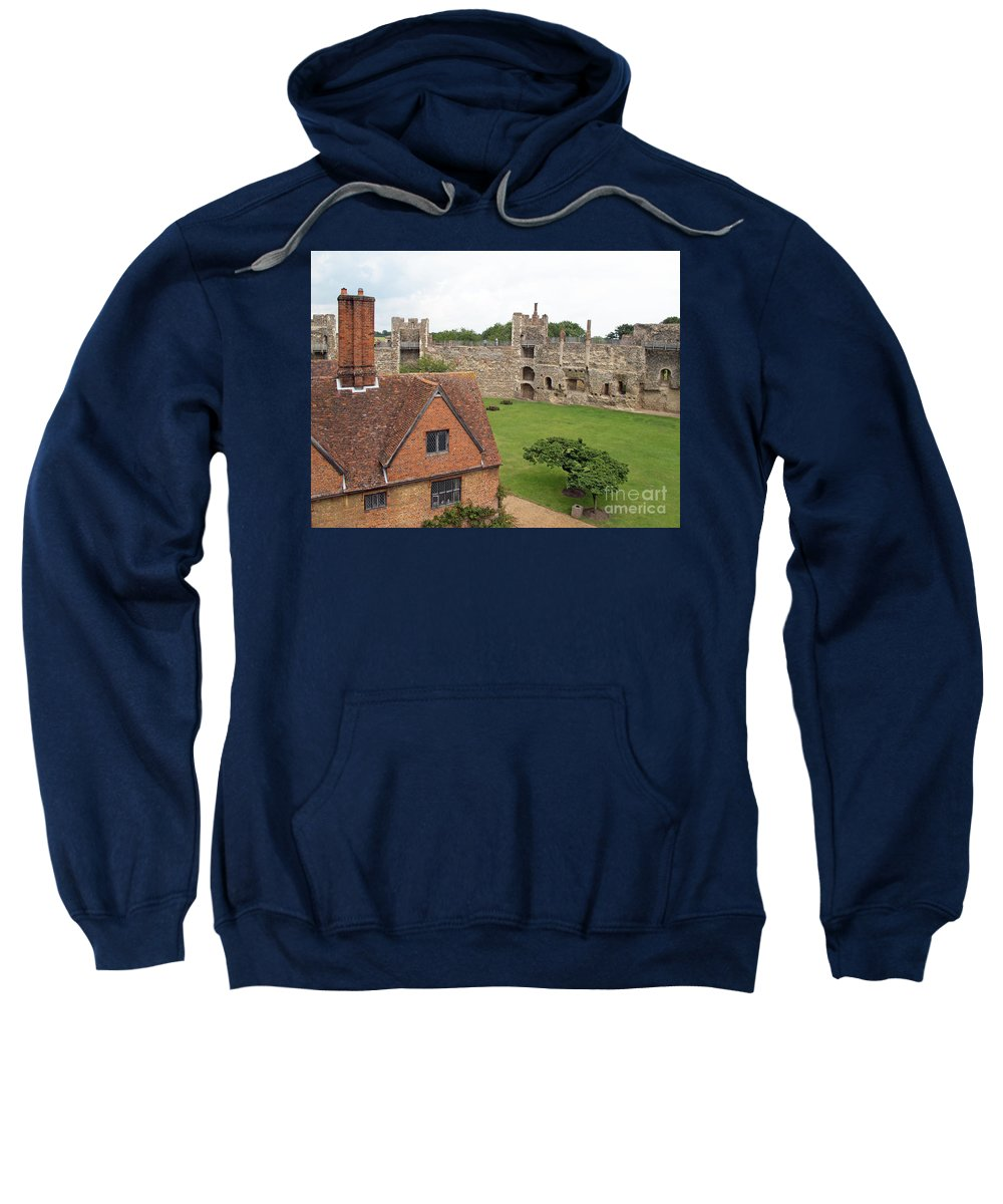 England Sweatshirt featuring the photograph Atop The Castle Wall by Ann Horn