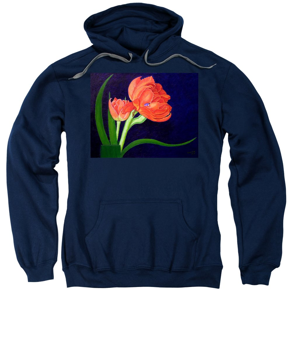 Bloom Sweatshirt featuring the painting Attention. I Am Here by Madalena Lobao-Tello