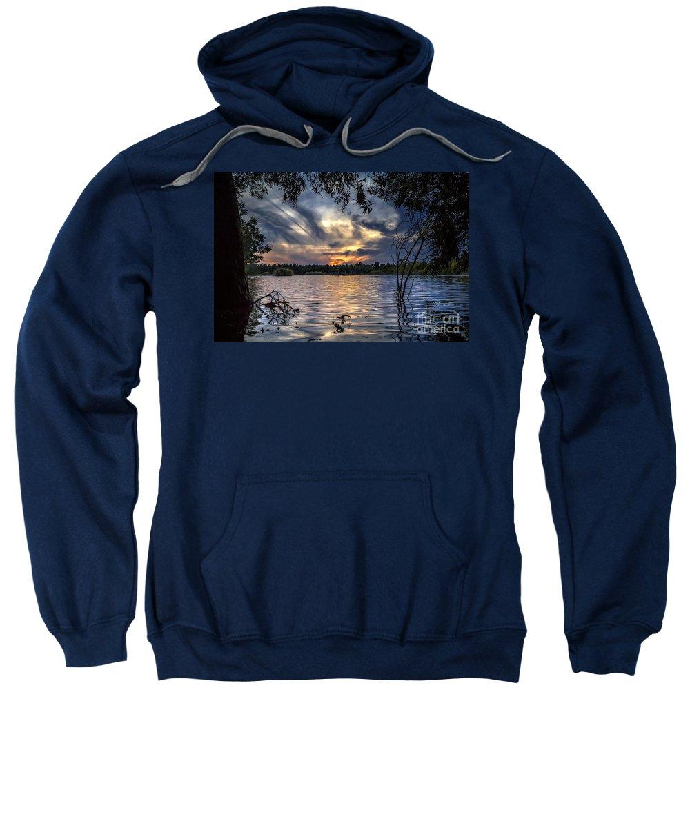 Autumn Sweatshirt featuring the photograph Autumn Sky by Stelios Kleanthous