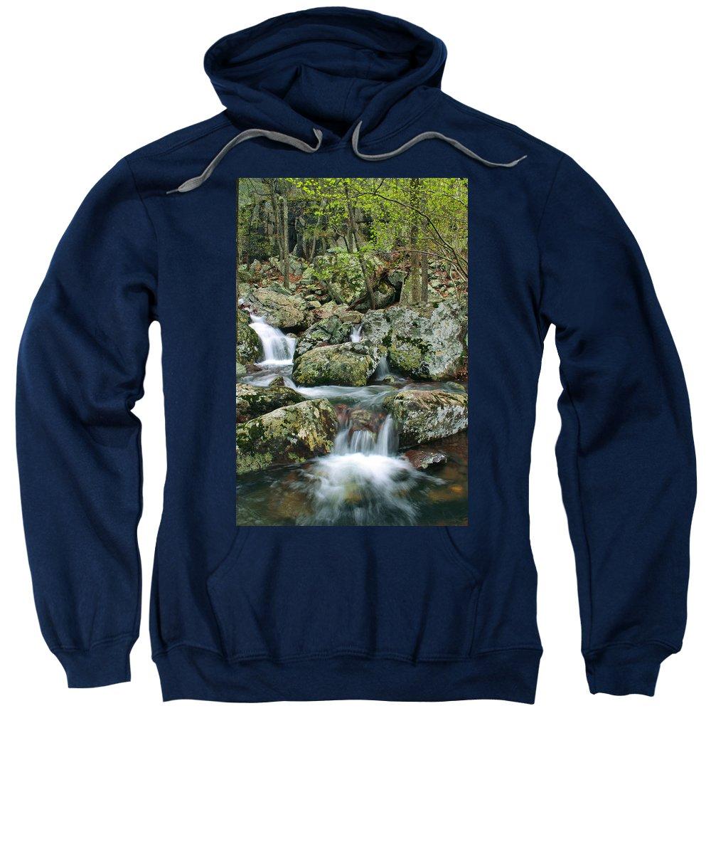 Mina Sauk Falls Sweatshirt featuring the photograph Below Mina Sauk Falls 1 by Greg Matchick