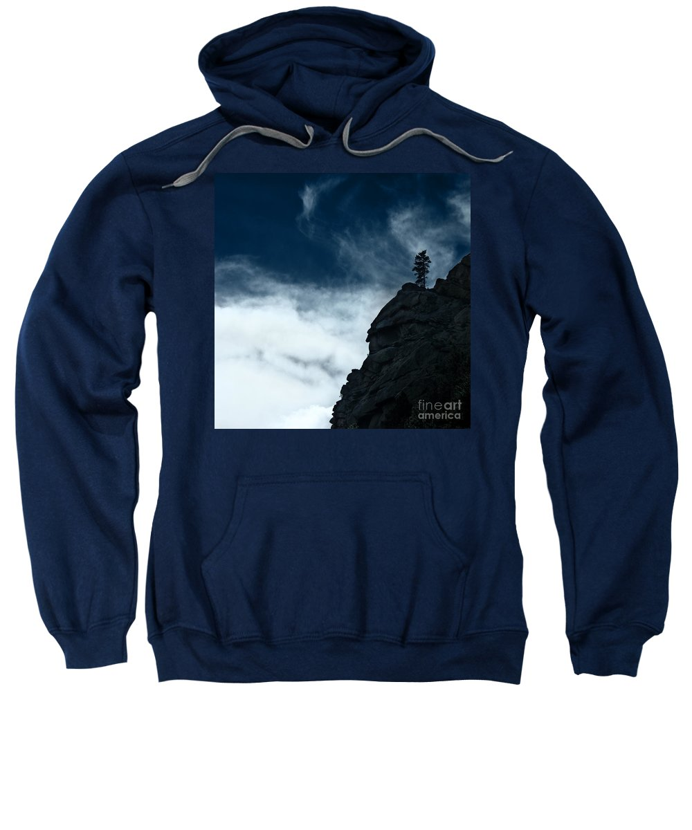 Colorado Sweatshirt featuring the photograph Black Cliff by Dana DiPasquale