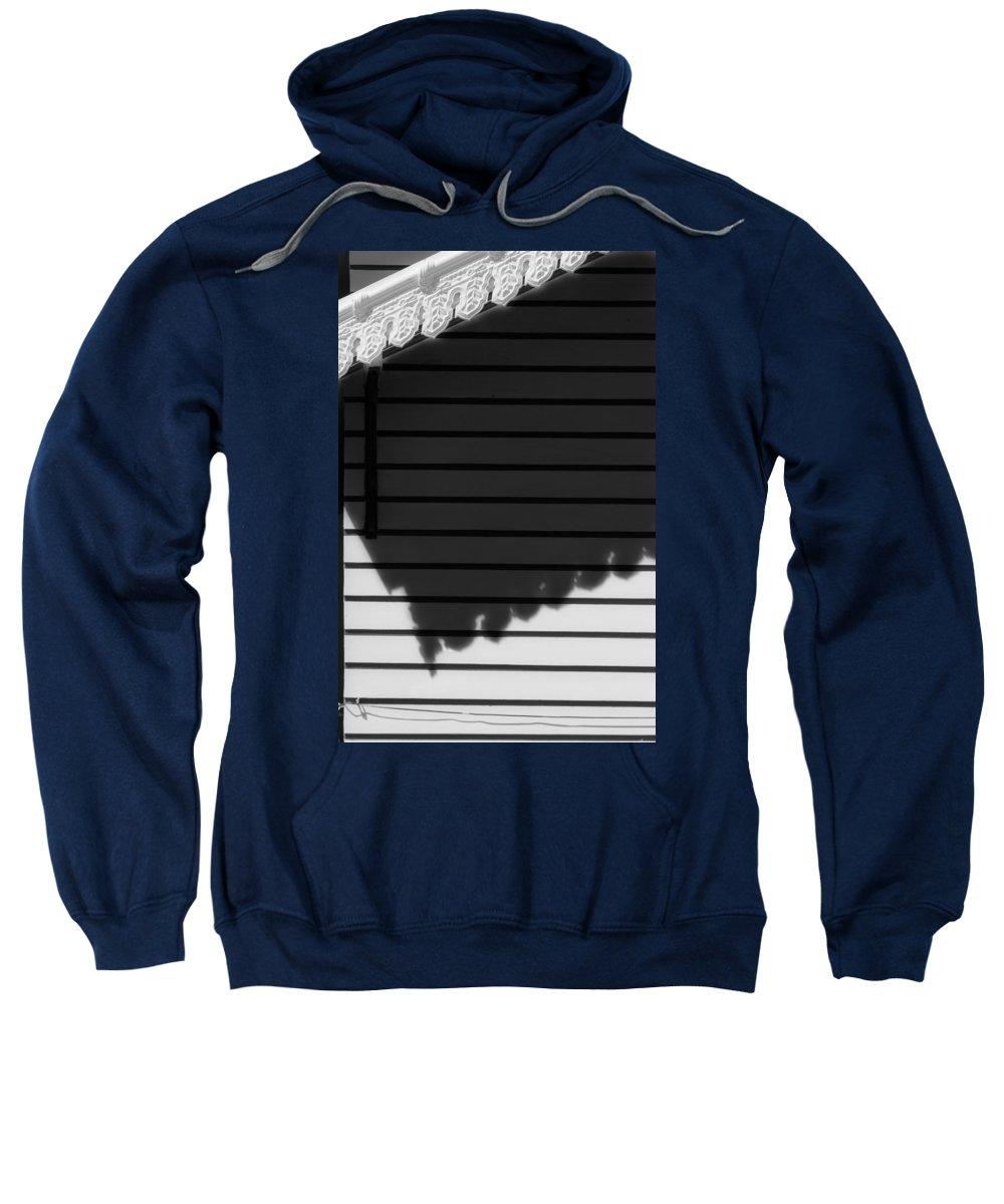Shadow Sweatshirt featuring the photograph Black Shadow by Edgar Laureano