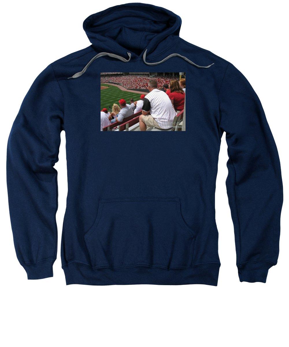 Baseball Sweatshirt featuring the photograph Bleacher Seats by Ann Horn