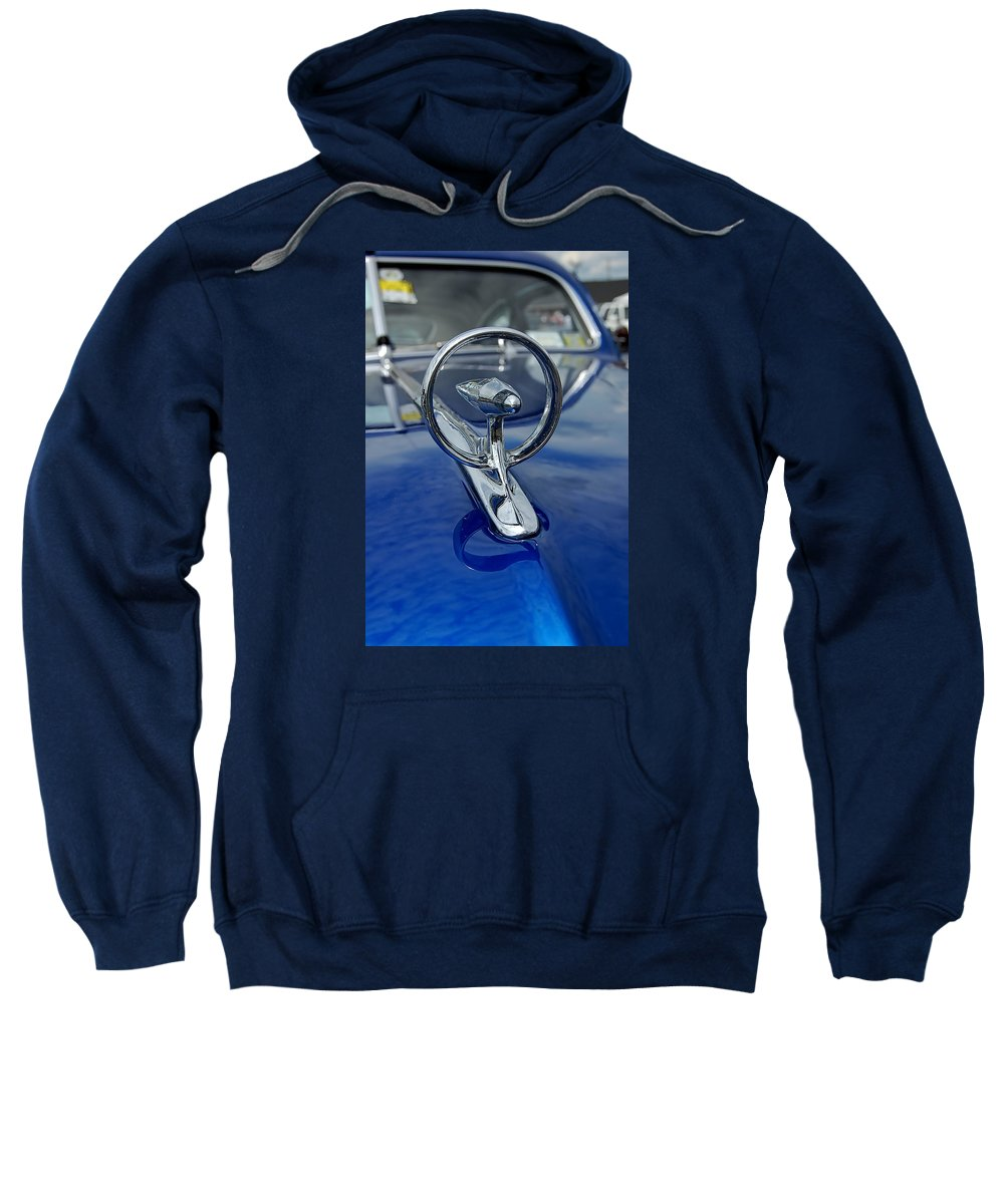 Sweatshirt featuring the photograph Blue Hood by Marvin Borst