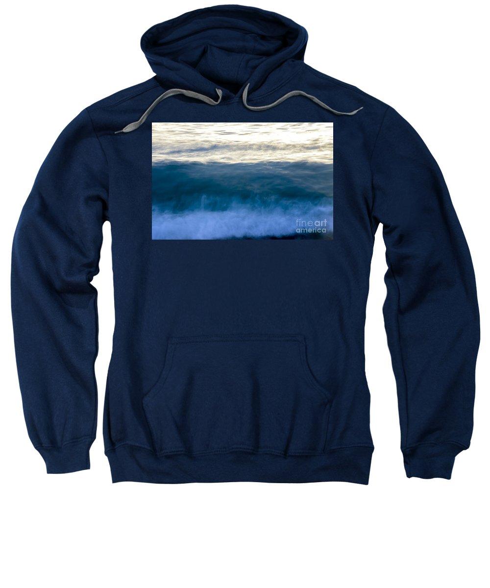 Landscapes Sweatshirt featuring the photograph Blue Lines by Amanda Sinco