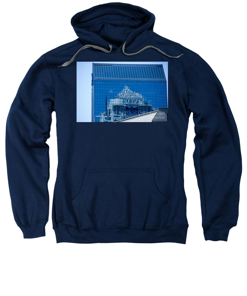 Cityscape Sweatshirt featuring the photograph Blue On Blue by Jay Ressler