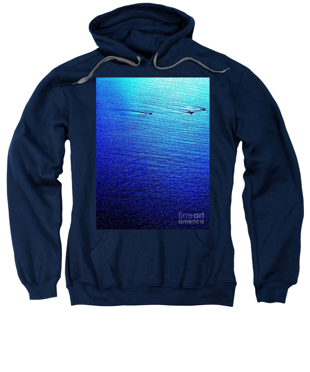 Abstract Sweatshirt featuring the photograph Blue Sand Abstract by Eric Schiabor