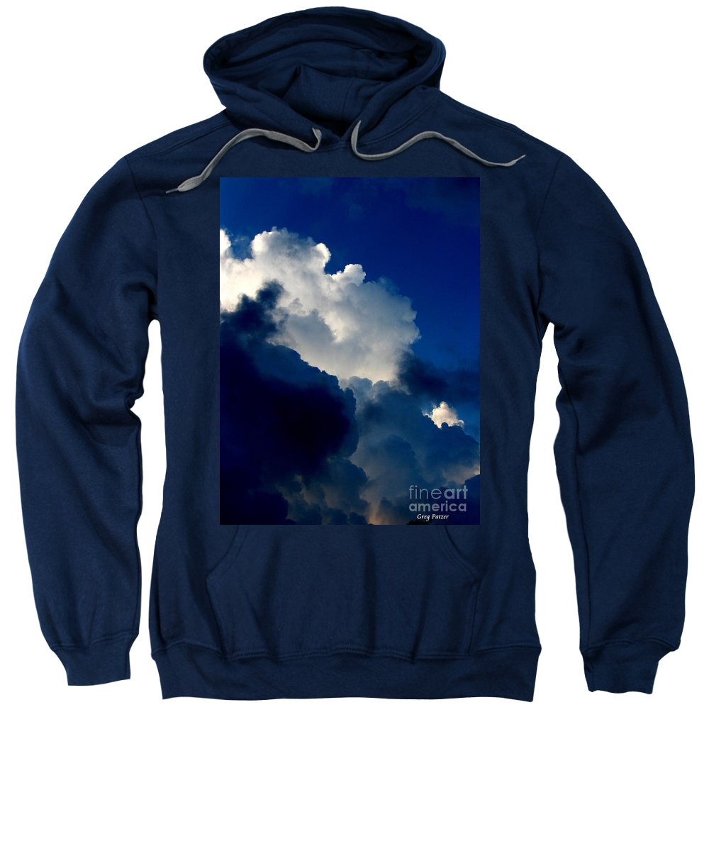 Patzer Sweatshirt featuring the photograph Blue Skies by Greg Patzer