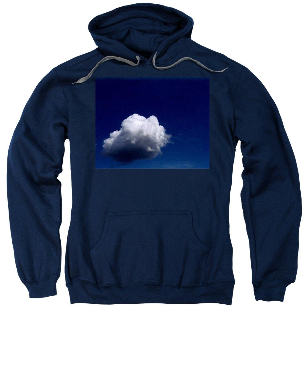 Blue Sky Sweatshirt featuring the photograph Blue Sky Cloud by Loren McNamara