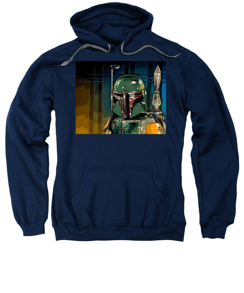 Star Wars Sweatshirt featuring the photograph Boba Fett 2 by George Pedro