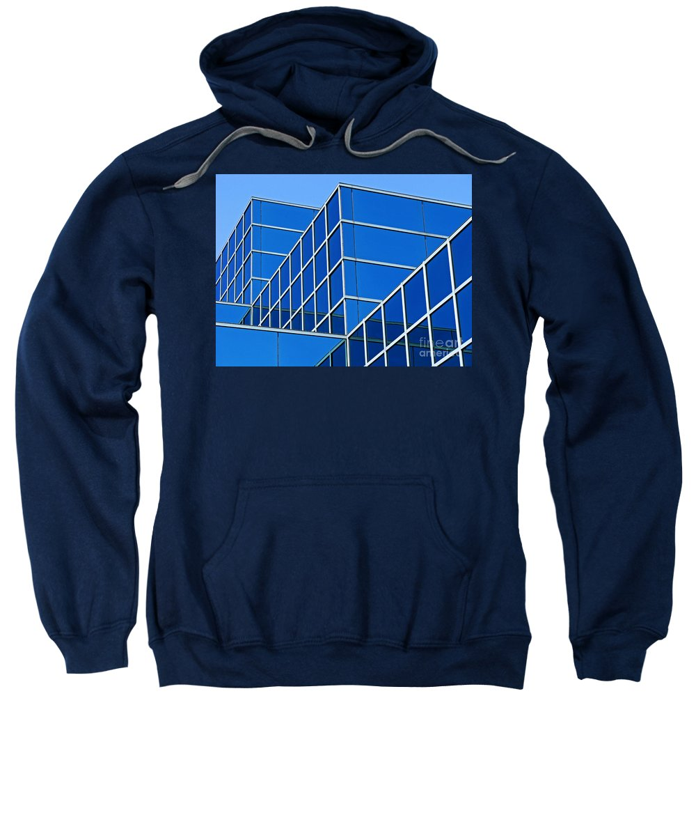 Building Sweatshirt featuring the photograph Boldly Blue by Ann Horn
