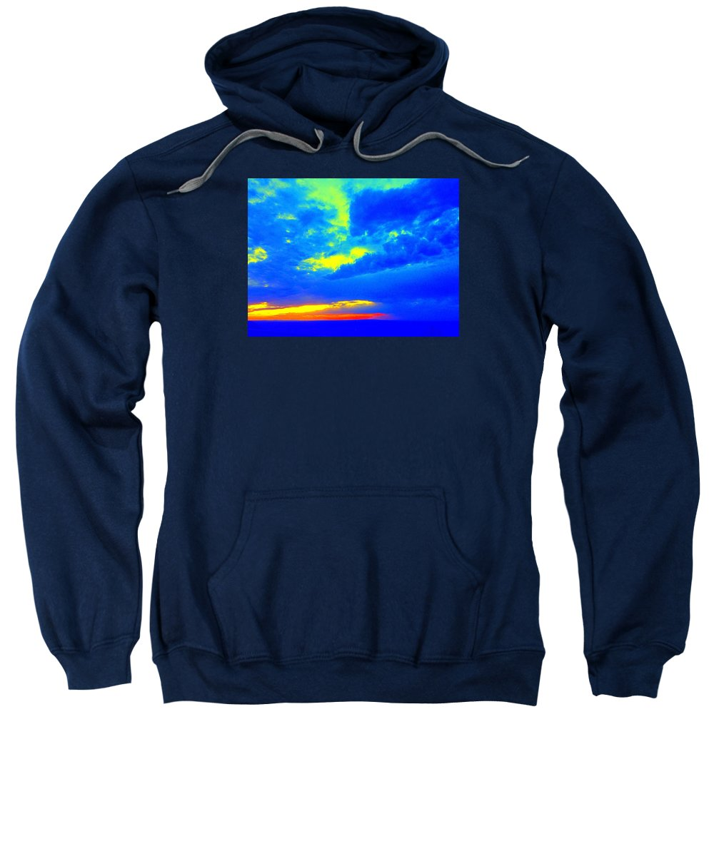 Bright Sweatshirt featuring the photograph Bright Skies by Sarah Jane Thompson
