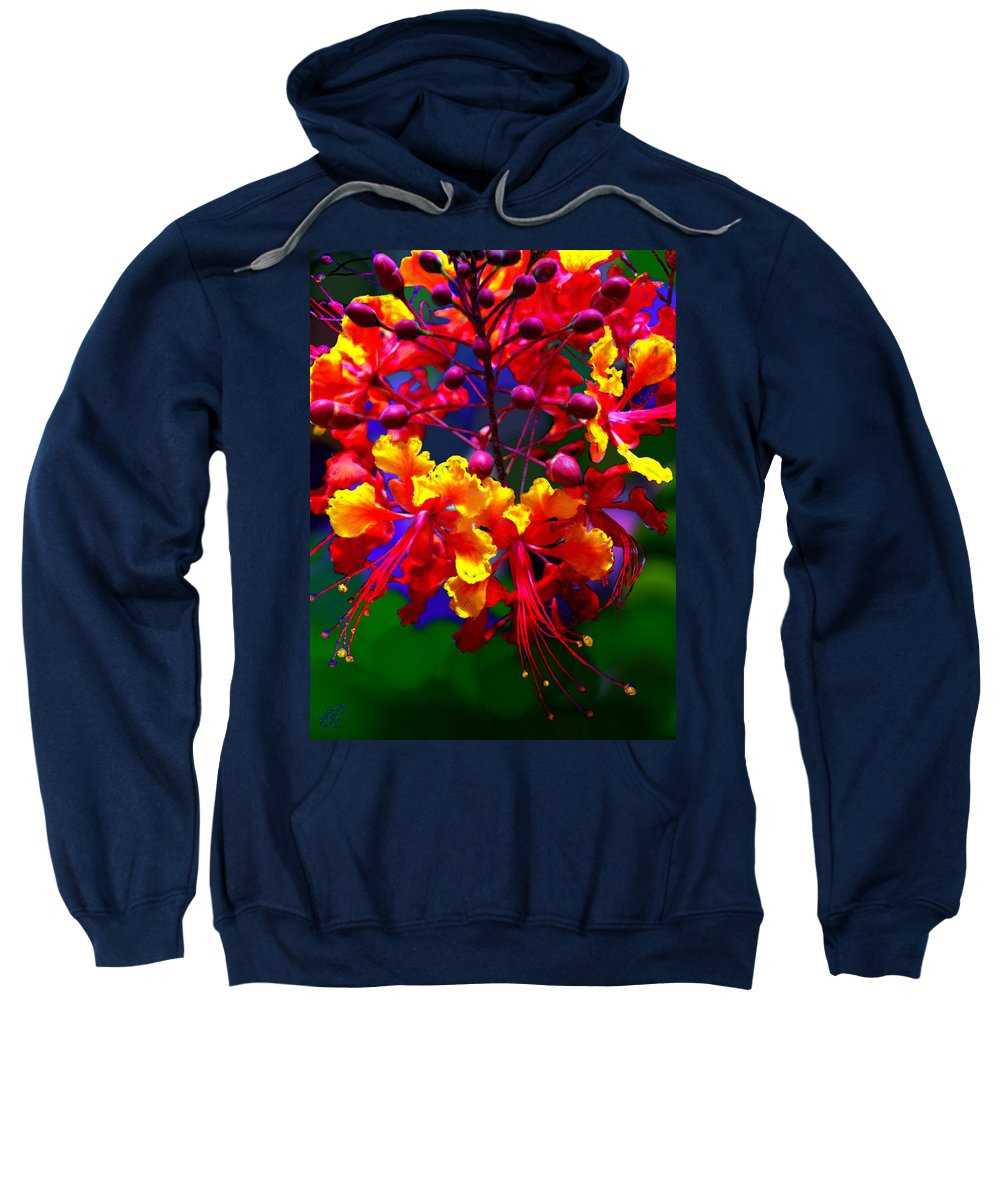 Red Sweatshirt featuring the painting Brilliant Bouquet by Bruce Nutting