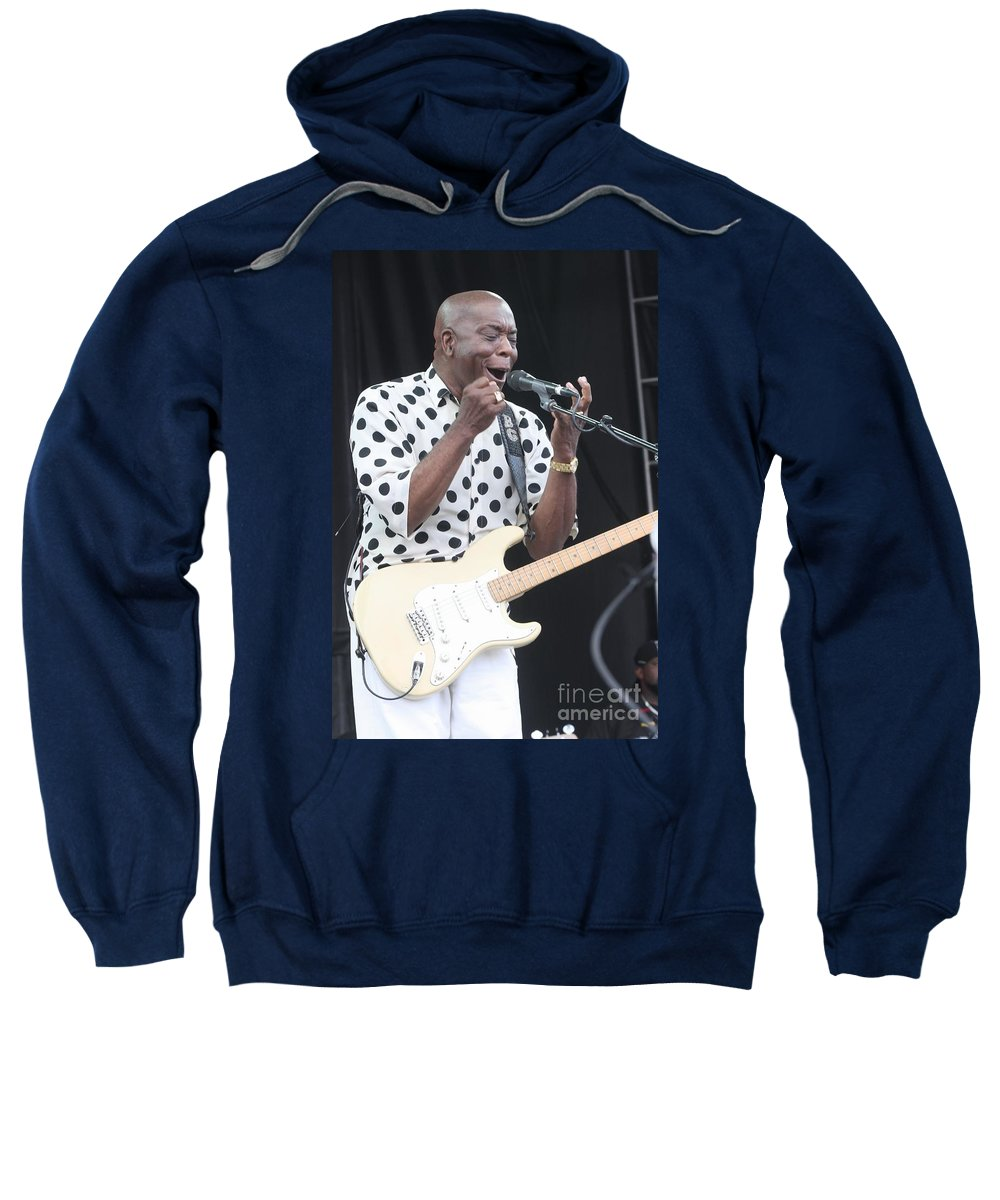 Singer Sweatshirt featuring the photograph Buddy Guy by Concert Photos