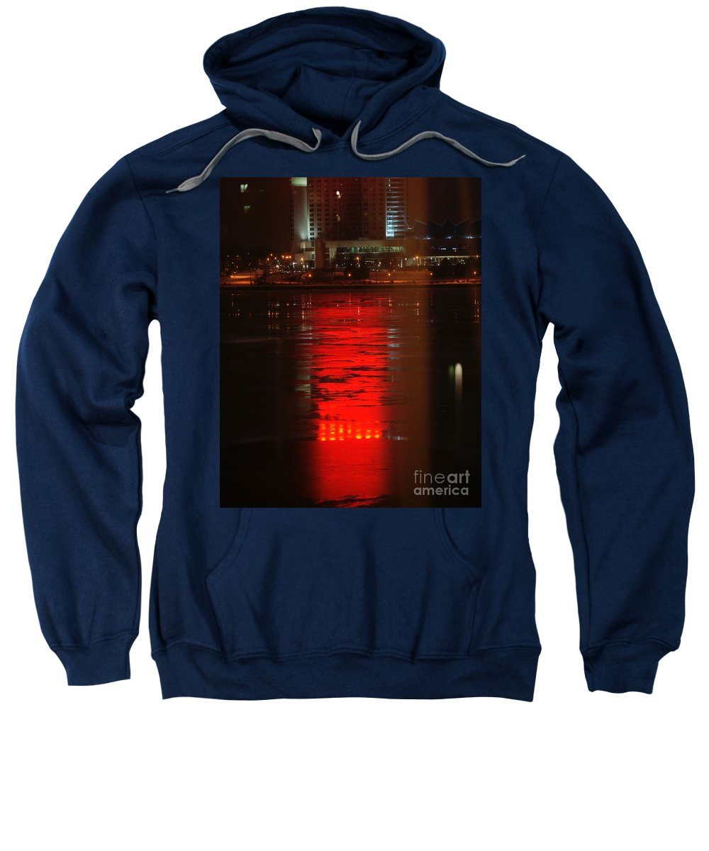 Winter Sweatshirt featuring the photograph Caesars Reflection by Linda Shafer