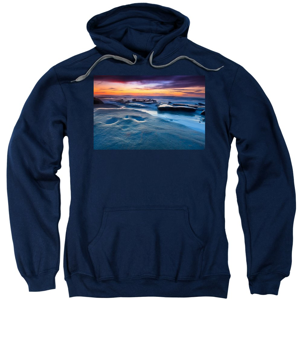 Sunset Sweatshirt featuring the photograph California Sunset by Ben Graham