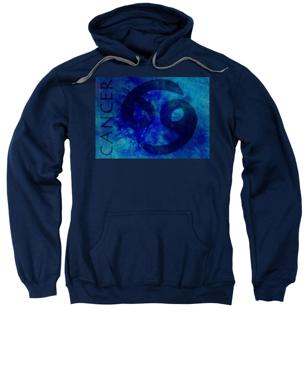 Cancer Sweatshirt featuring the digital art Cancer by Joelle Bhullar