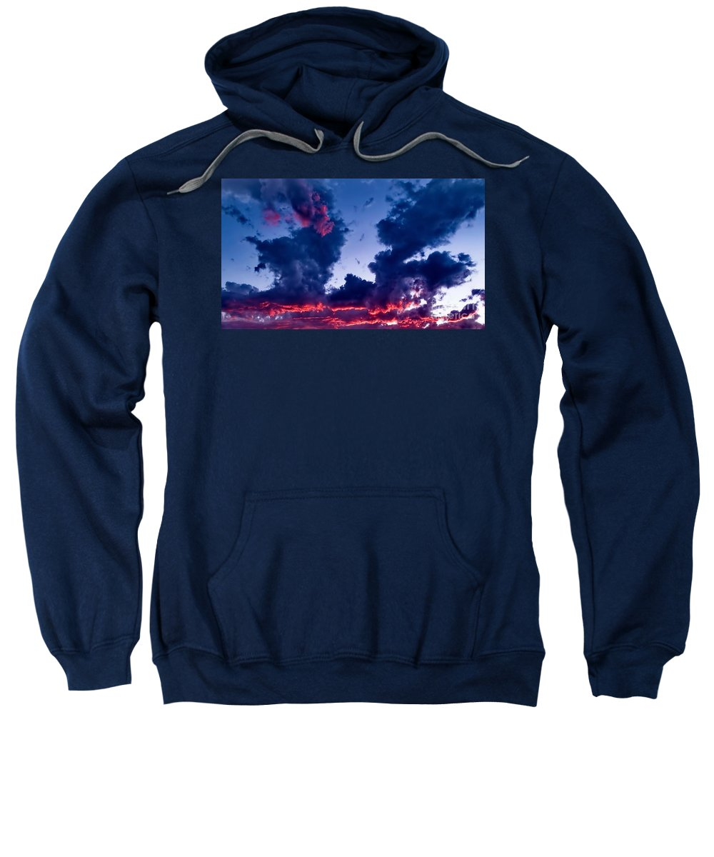 Digital Color Photo Sweatshirt featuring the digital art Cape Le Grande Sunset by Tim Richards