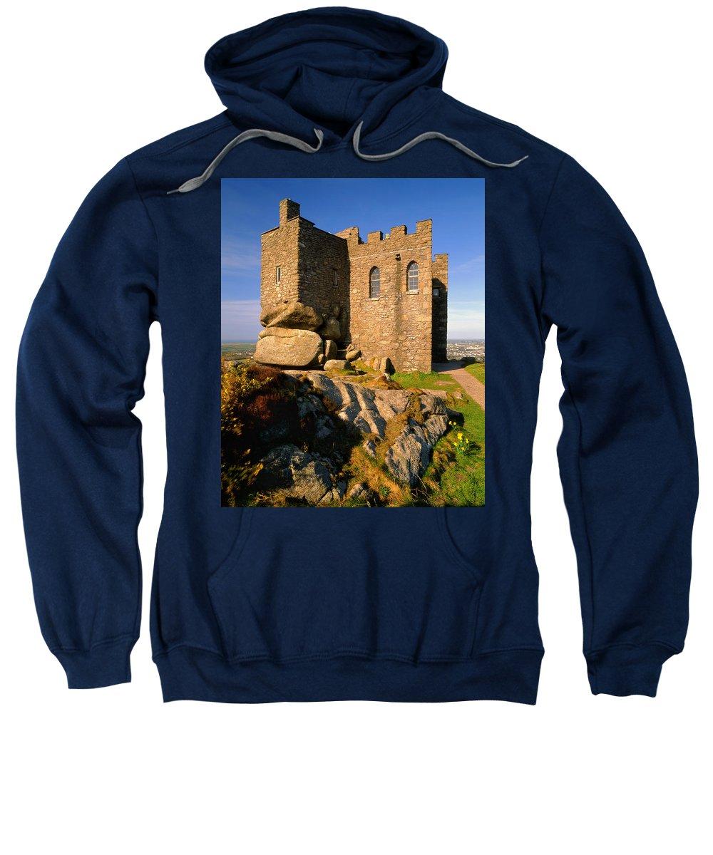 Cornwall Sweatshirt featuring the photograph Carn Brea Castle by Darren Galpin