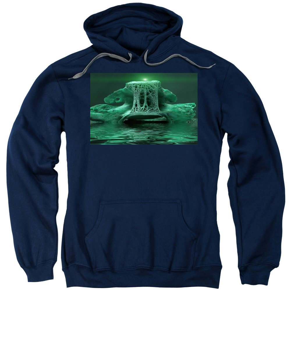 Abstract Sweatshirt featuring the photograph Catacombs 2 by WB Johnston