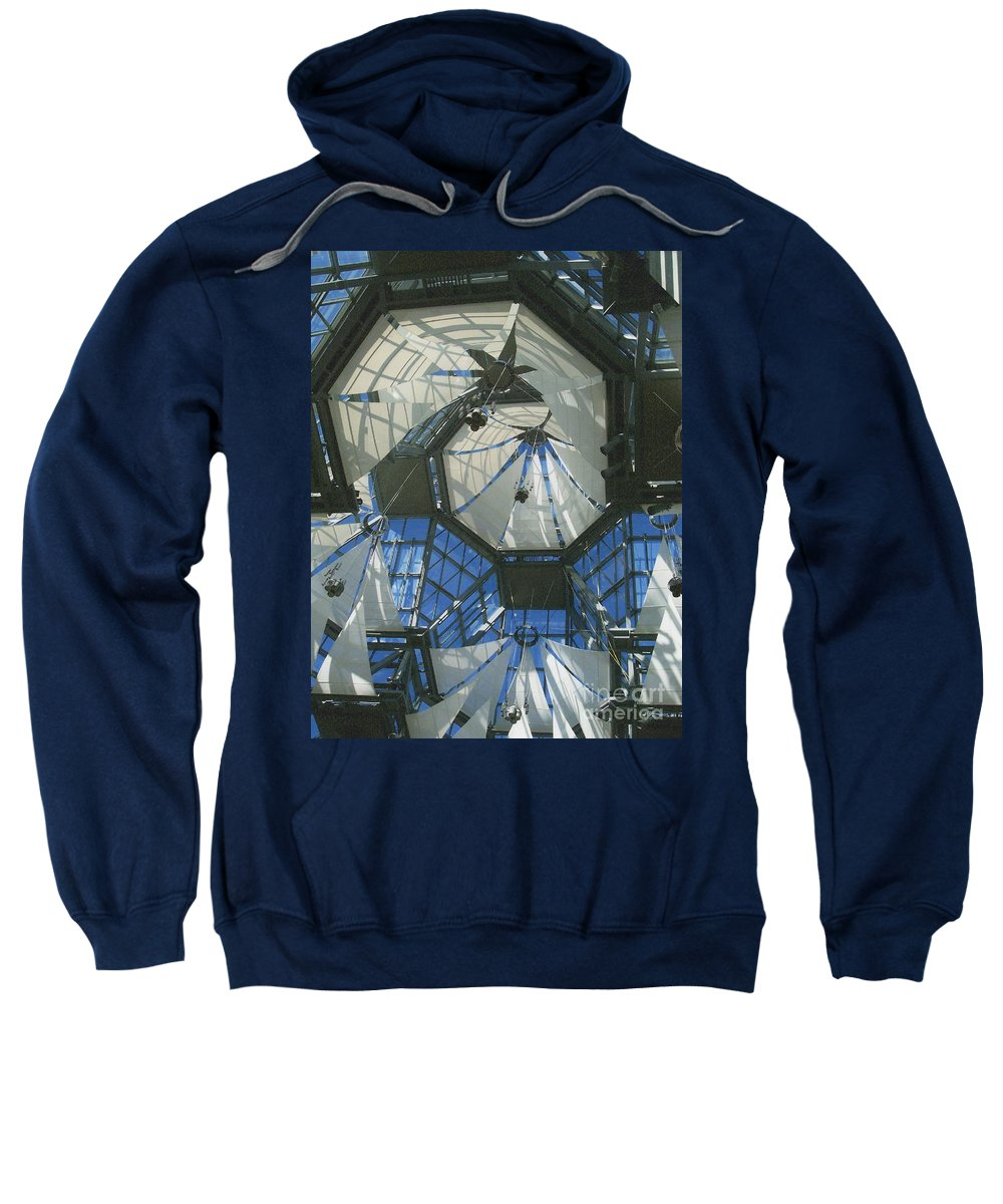 First Star Sweatshirt featuring the photograph Ceiling Sails by First Star Art