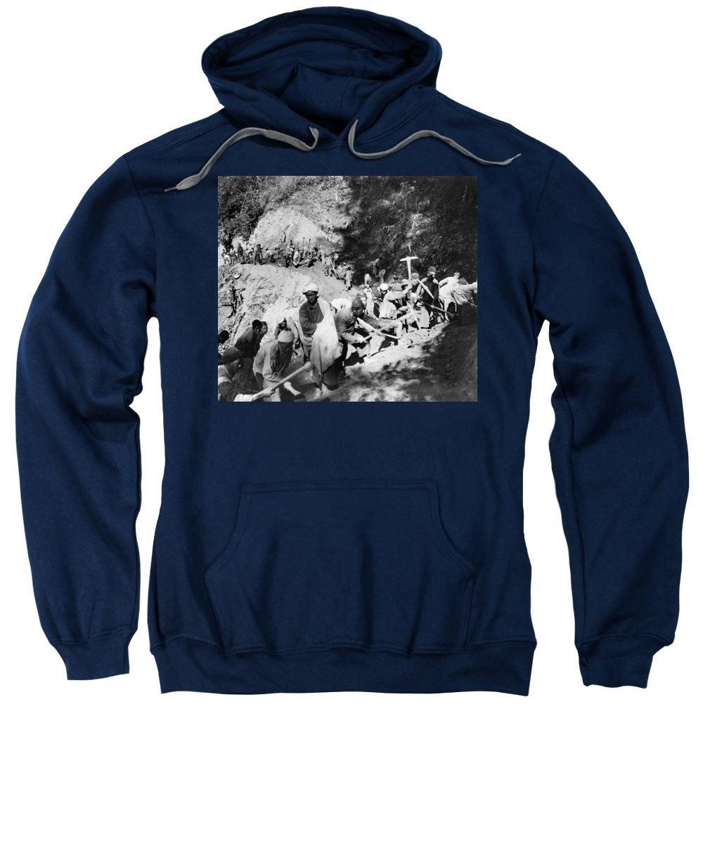 1944 Sweatshirt featuring the photograph China Burma Road, 1944 by Granger