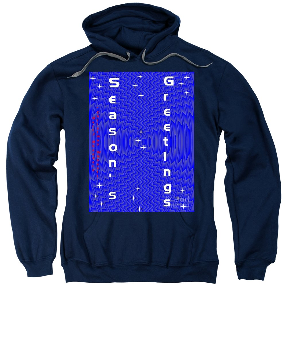 Modern Sweatshirt featuring the painting Christmas Cards And Artwork Christmas Wishes 11 by Gert J Rheeders