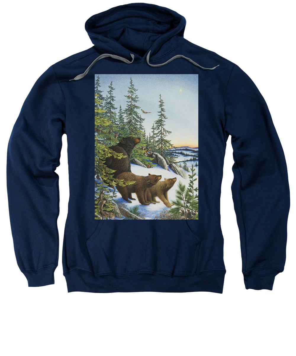 Christmas Star Sweatshirt featuring the painting Christmas Morning by Lynn Bywaters