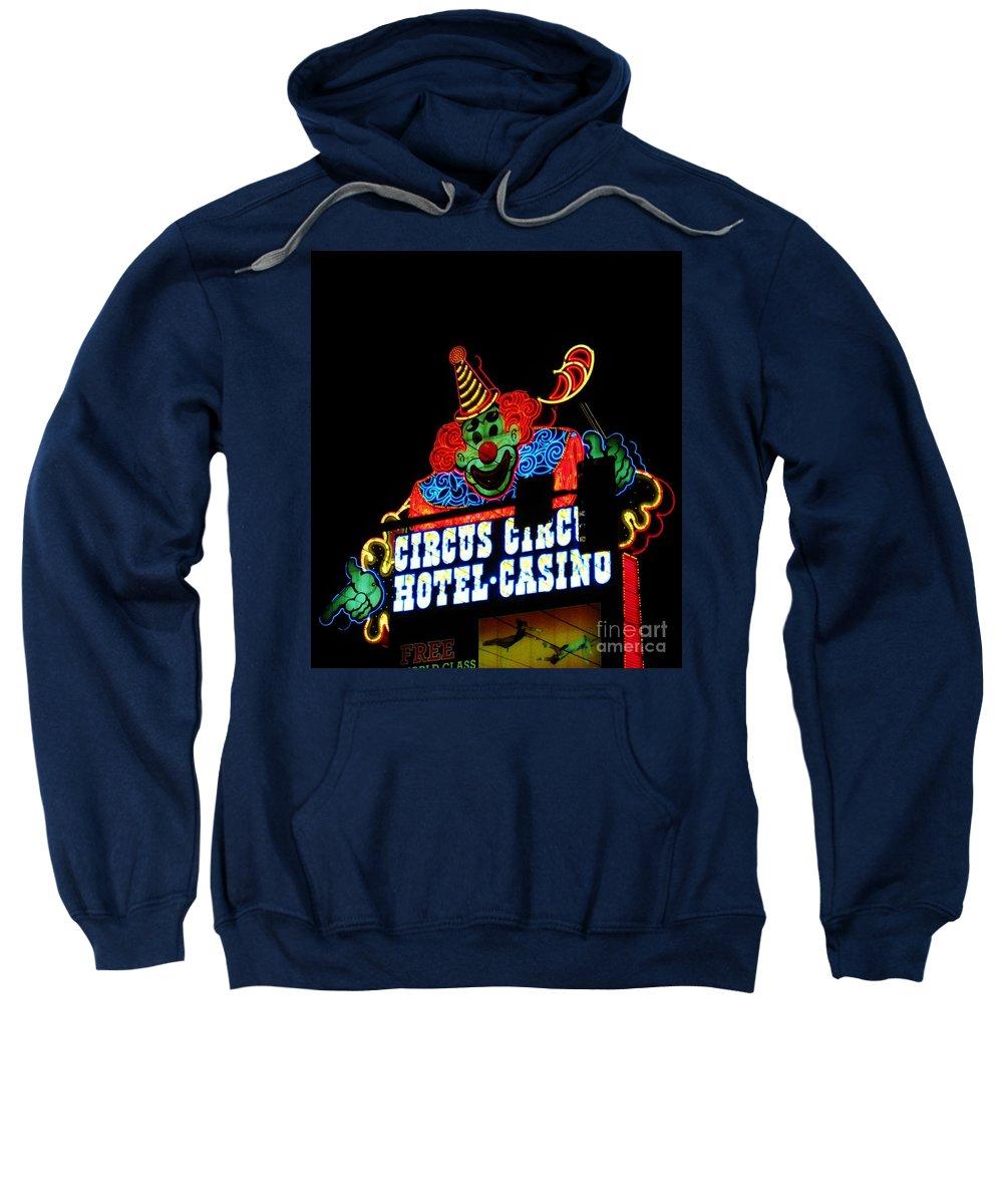 Las Vegas Sweatshirt featuring the photograph Circus Circus Sign Vegas by John Malone