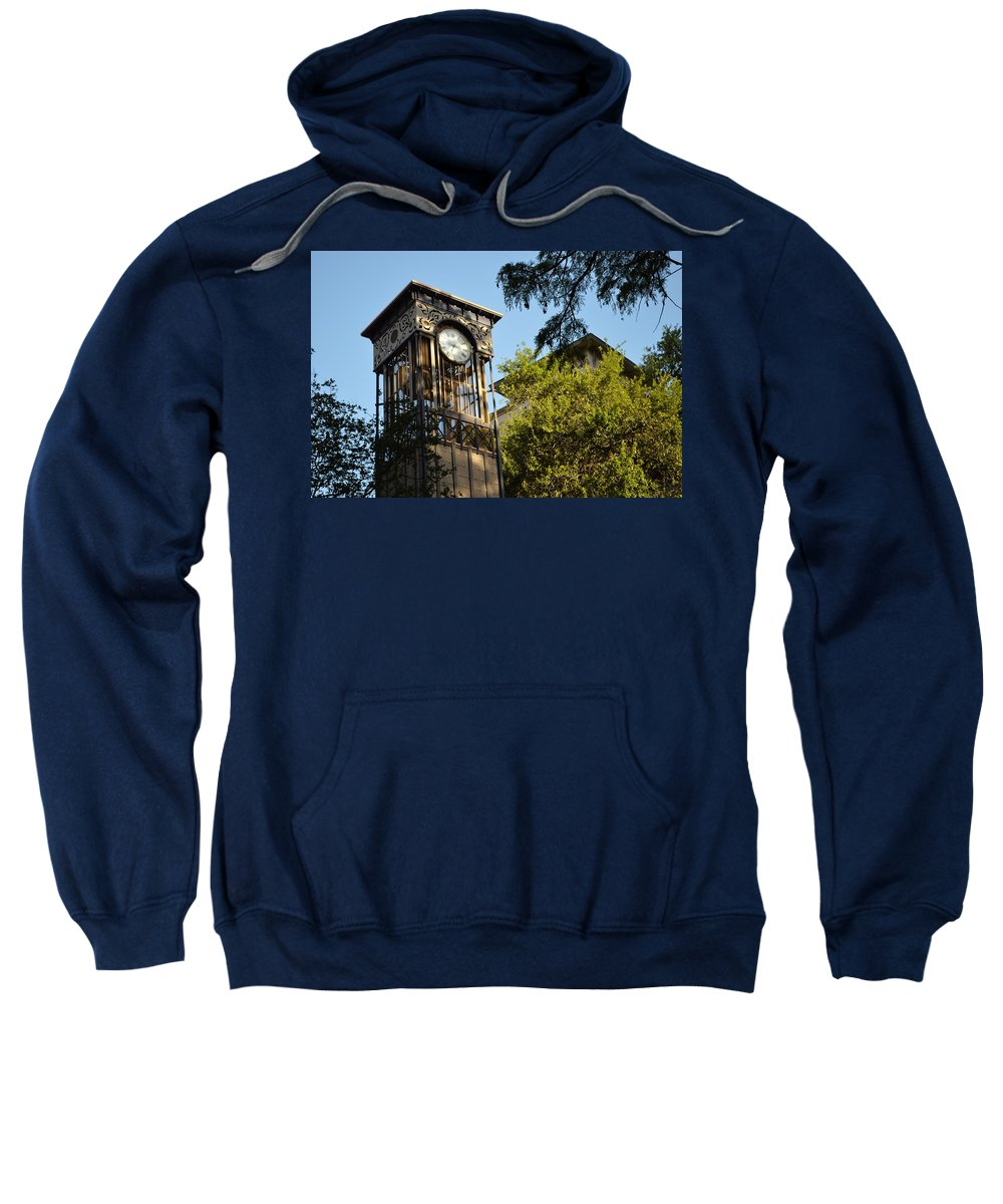 Architecture Sweatshirt featuring the photograph City Time by Shawn Marlow