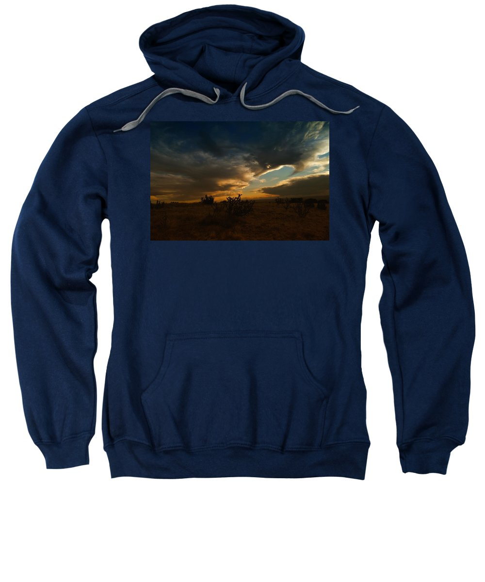 New Mexico Sweatshirt featuring the photograph Clouds In New Mexico by Jeff Swan