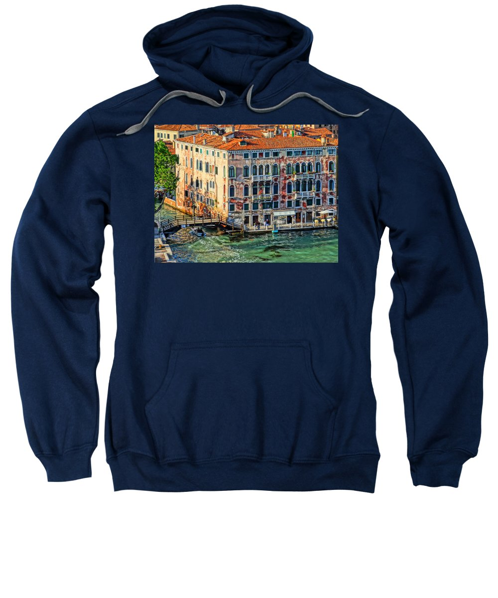 San Marco Sweatshirt featuring the photograph Colorful Rotten Palace In Venice Italy by M Bleichner