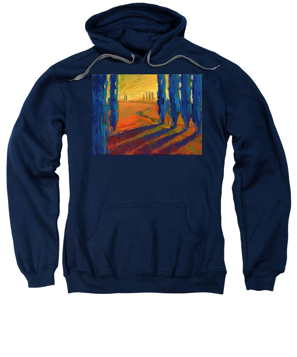 California Sweatshirt featuring the painting Colors Of Summer 2 by Konnie Kim