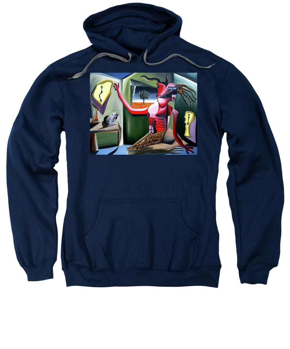 Abstract Sweatshirt featuring the painting Contemplifluxuation by Ryan Demaree