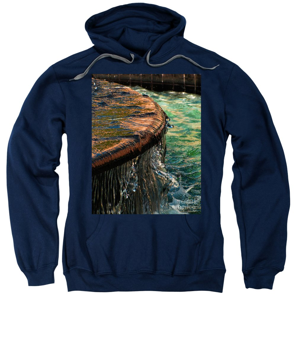 Copper Spill Sweatshirt featuring the photograph Copper Spill by Ron Tackett