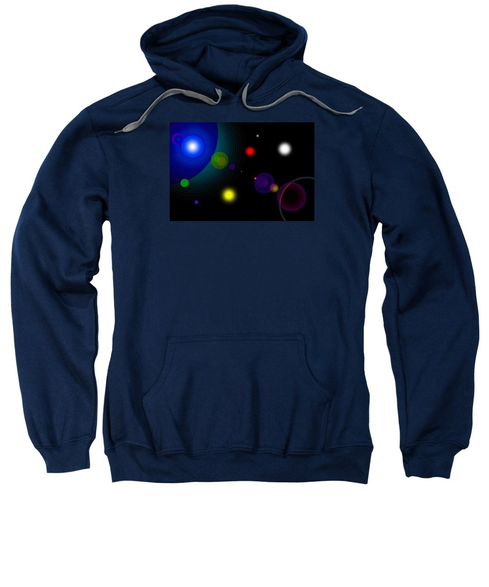 Space Sweatshirt featuring the digital art Counterbalance by Andre Aleksis
