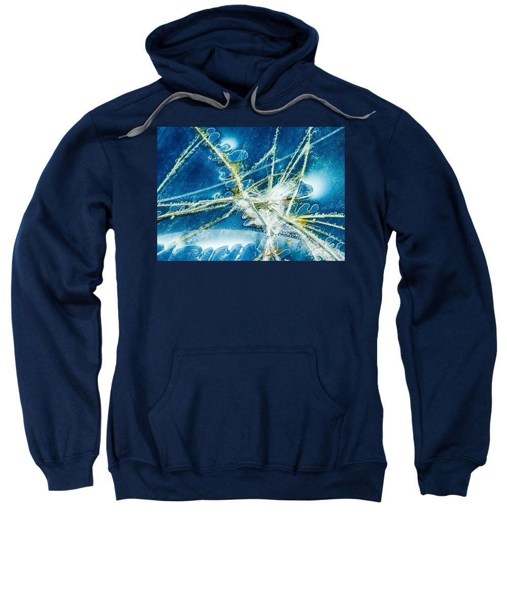 Truck Farm Sweatshirt featuring the photograph Cracked by Georgette Grossman