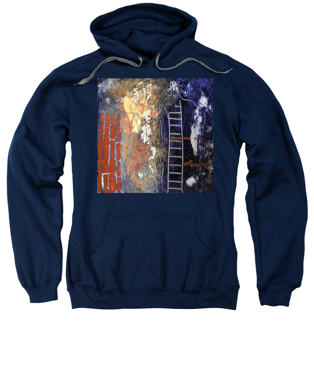 Abstract Sweatshirt featuring the painting Crossing Over by Sue McElligott