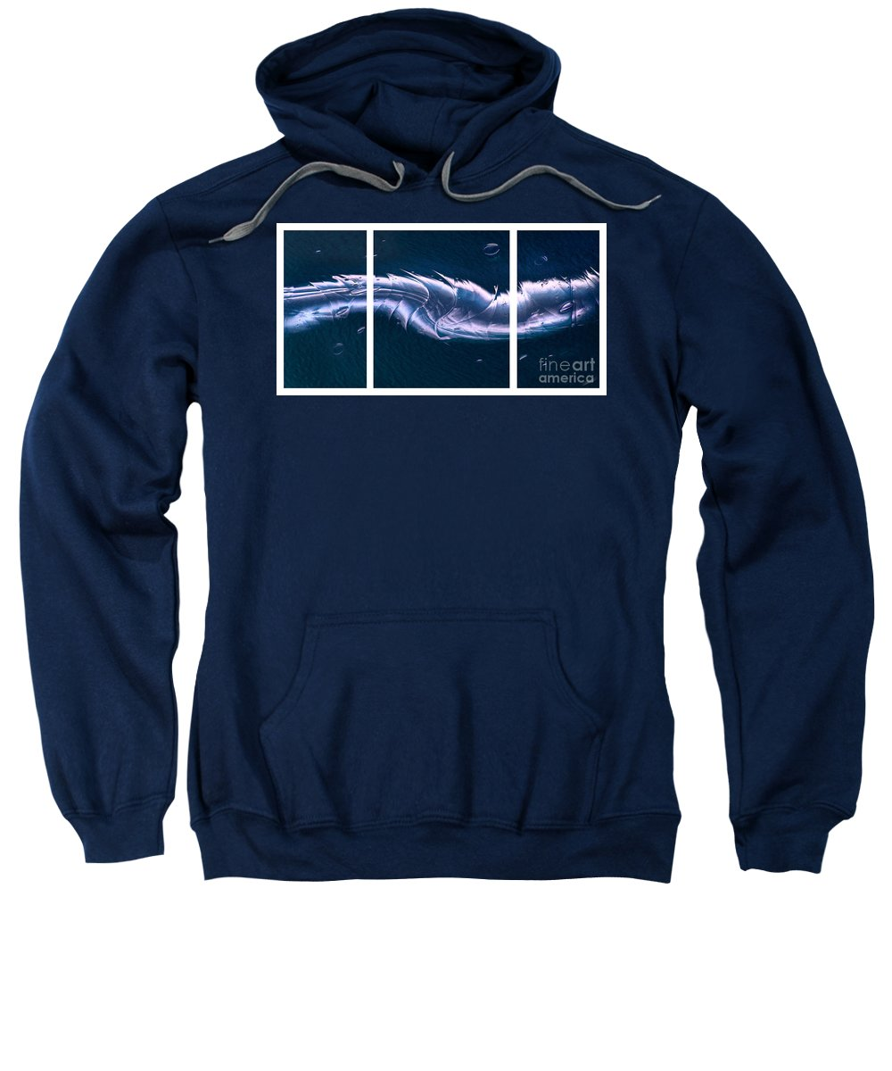 Crystalline Entity Sweatshirt featuring the digital art Crystalline Entity Triptych by Peter Piatt