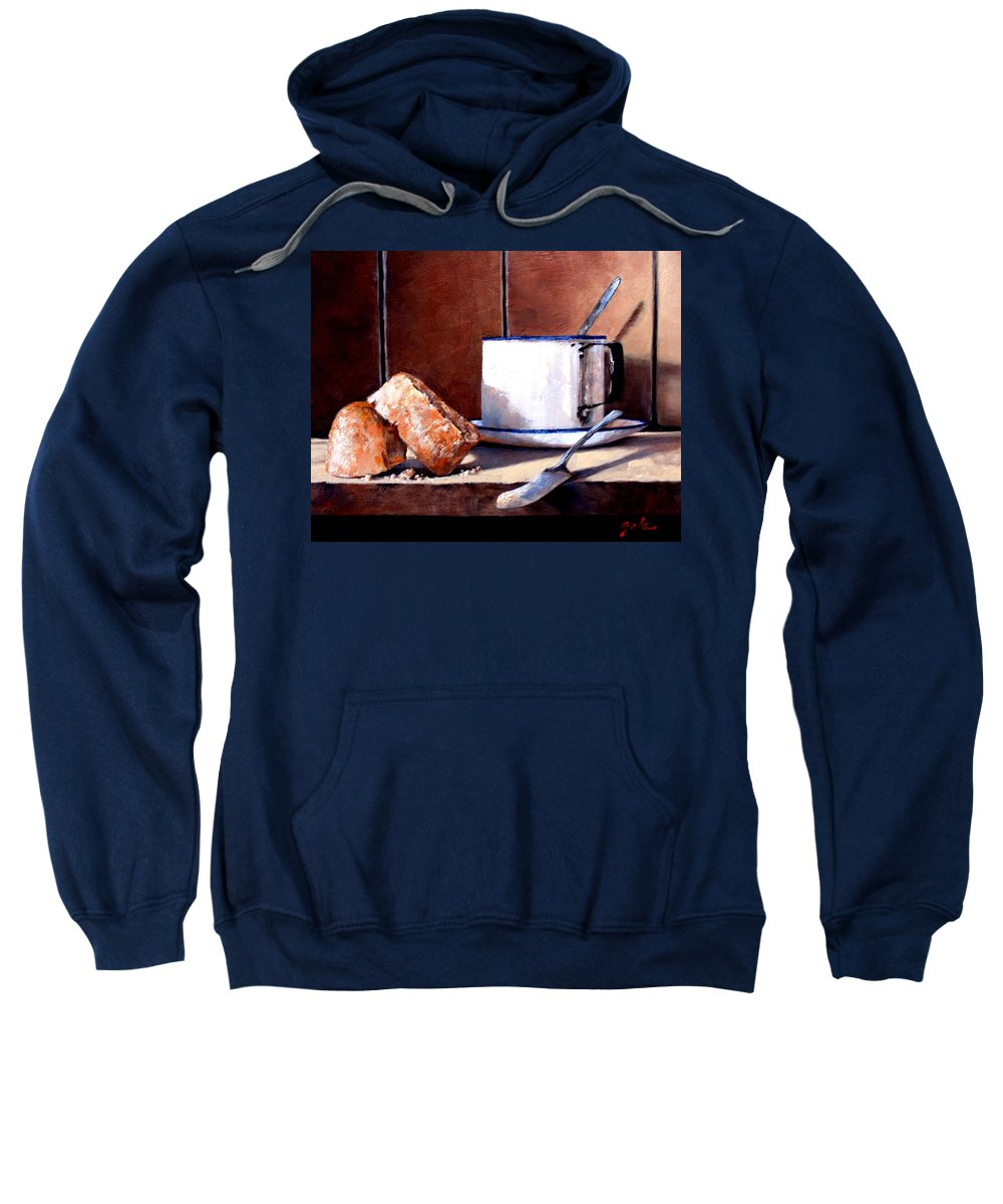 Still Life Sweatshirt featuring the painting Daily Bread Ver 2 by Jim Gola