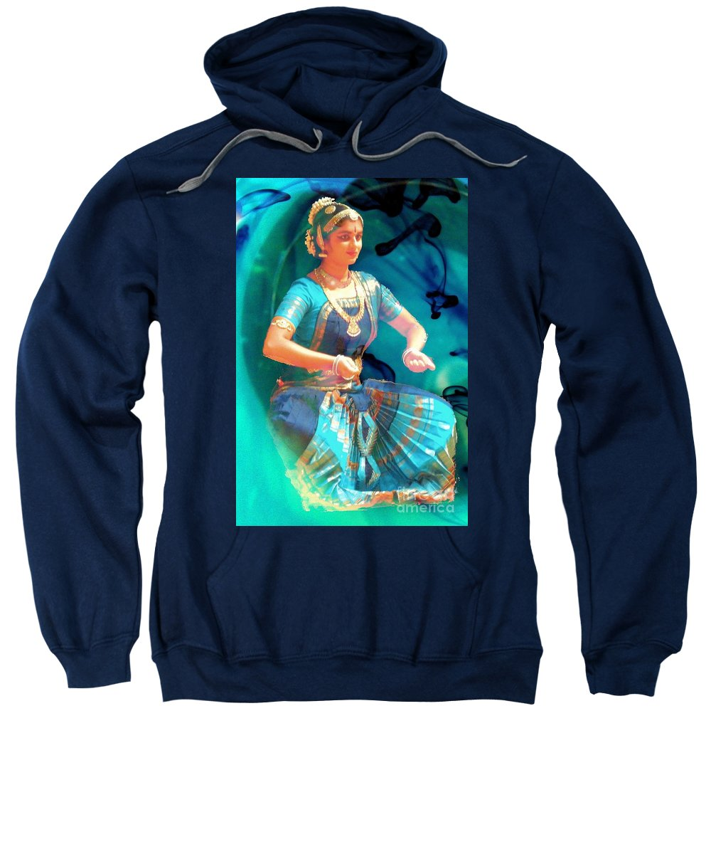 India Sweatshirt featuring the photograph Dancing Girl With Gold Necklace by Janette Boyd