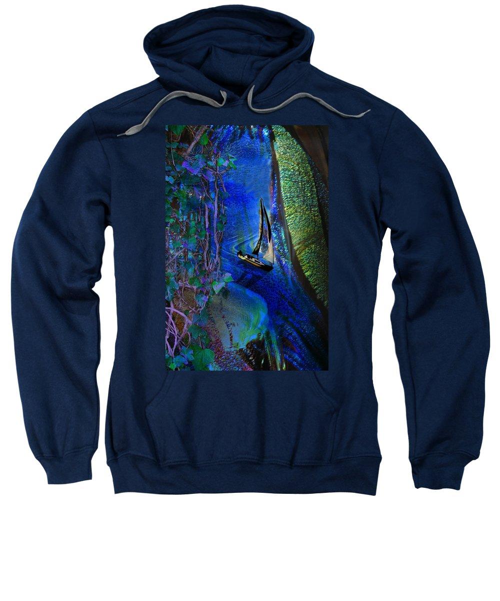 Dark River Sweatshirt featuring the digital art Dark River by Lisa Yount