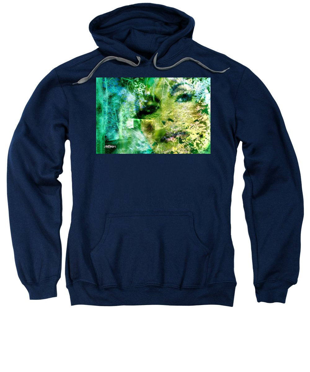 Deep Woods Wanderings Sweatshirt featuring the digital art Deep Woods Wanderings by Seth Weaver
