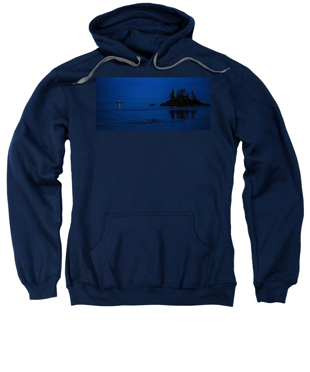 Departure Before First Light Sweatshirt featuring the photograph Departure Before First Light by Marty Saccone