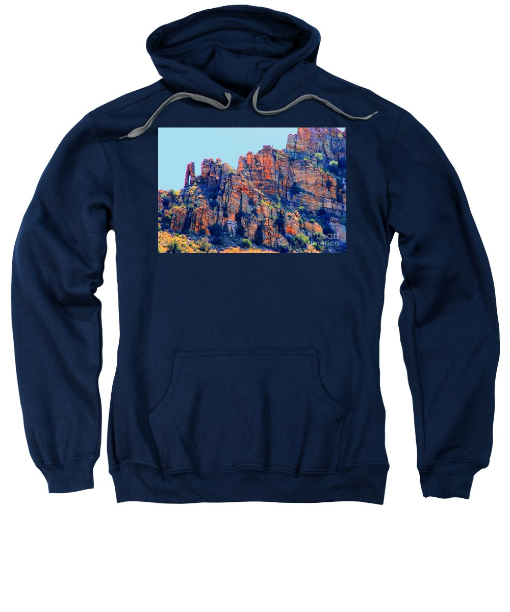 Sabino Canyon Sweatshirt featuring the photograph Desert Paint by Tap On Photo