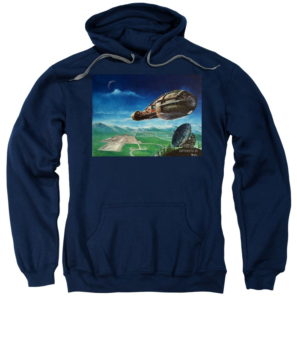 Landscape Sweatshirt featuring the painting Did You Call by Murphy Elliott