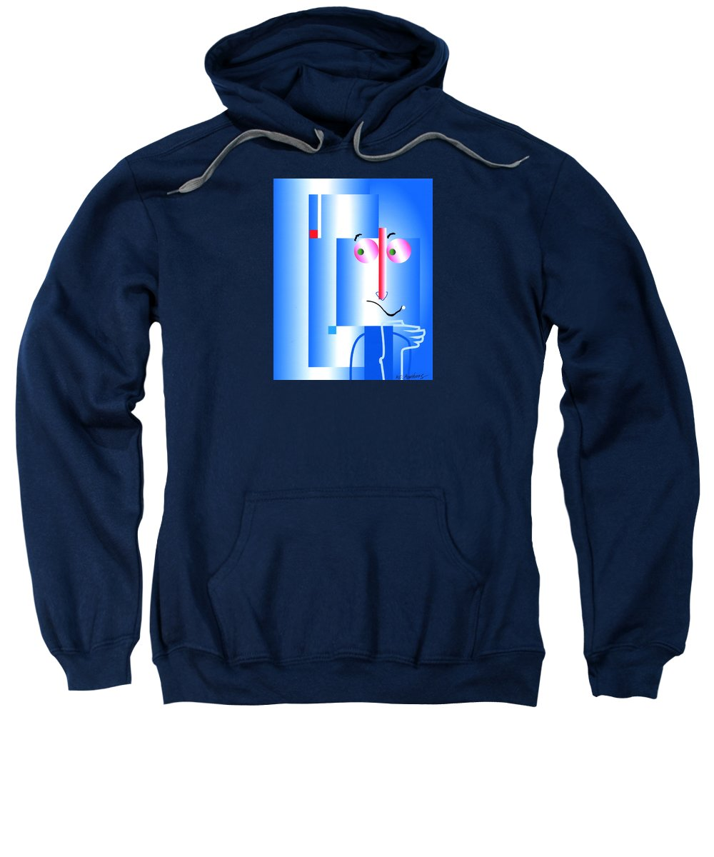 Digital Sweatshirt featuring the digital art Don't Blame Me by Mary Armstrong