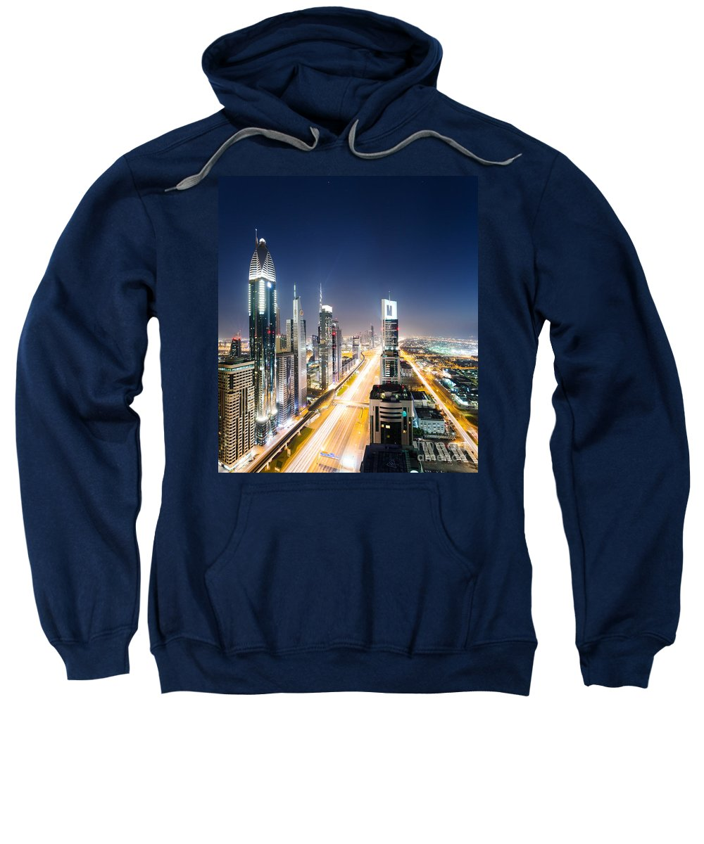 Dubai Skyline Photographs Hooded Sweatshirts T-Shirts