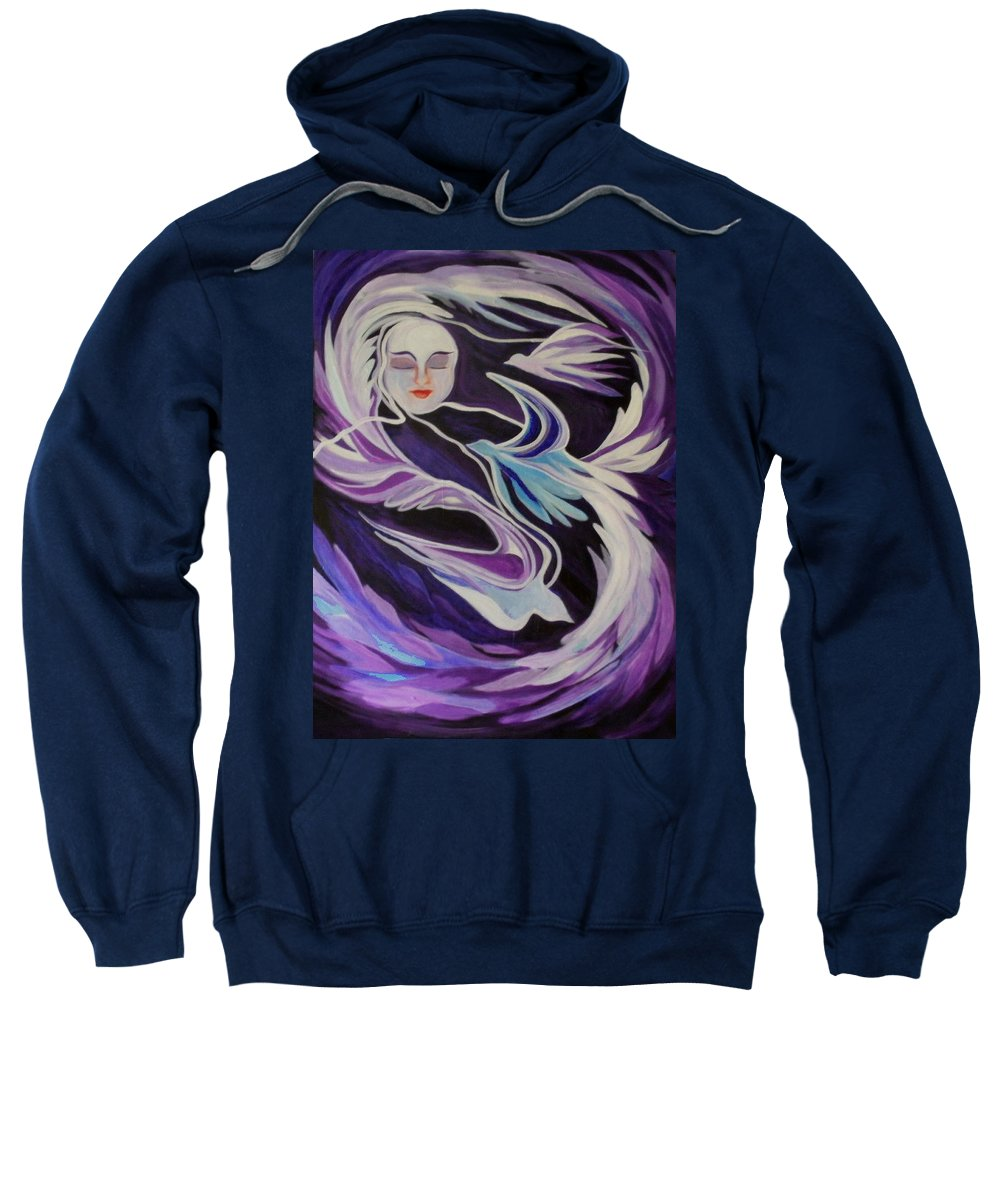 Dreams Sweatshirt featuring the painting Dream On Little Soul by Carolyn LeGrand